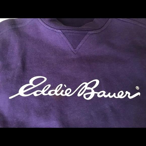 👕EDDIE BAUER Signature Logo Purple Sweatshirt